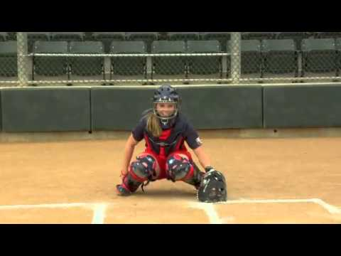 Catching Tips - Stance With Ashley Holcombe Of USA Softball