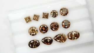 Natural Chocolate / cognac brown diamonds mix shapes parcel 24.59cts of 13pcs