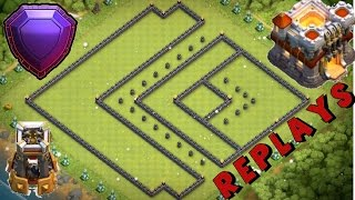 THE BEST TH11 TROPHY/WAR BASE WITH REPLAYS! 2017 - Unstoppable Dead Zone Base