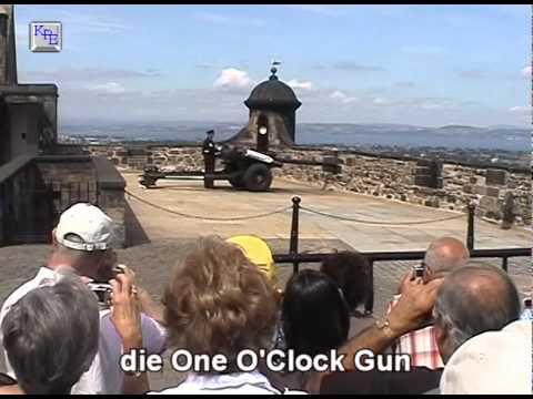 """Schottland, Edinburgh Castle und die """"One O'Clock Gun"""""""