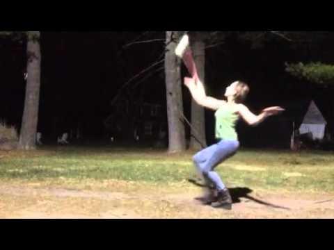 Shining - Double D. Ultra Violet Dove dancing. Baton. The Pandora workout.