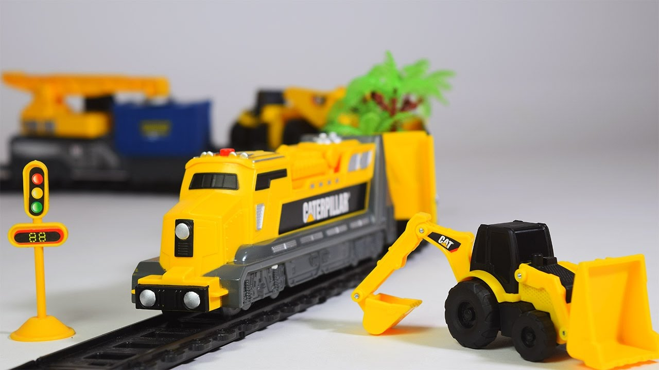 Construction Train For Children Jcb Train Videos Jcb Toys Toy Train Train For Kids