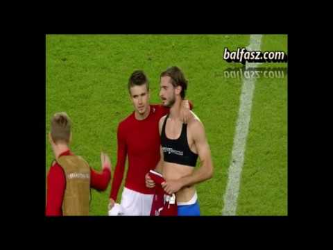 GAY FUTBALL PLAYER IN SPORT BRA  (Hungary - Greece  2:1)