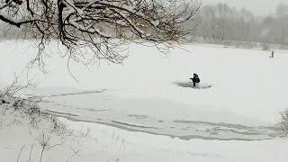 Озеро Глушец Прогулка на рыбалку Настоящая ЗИМА
