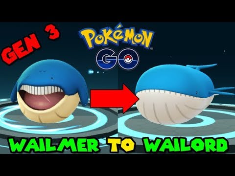 Evolving WAILMER to WAILORD (Pokemon GO Gen 3 Evolution ... Wailmer Pokemon