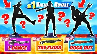 RARE EMOTES = LEGENDARY WEAPONS in Fortnite!