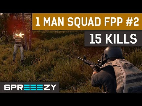 PUBG FPP 1 Man Squad Game #2 | 15 Kills Win | Intense Early and Late Game