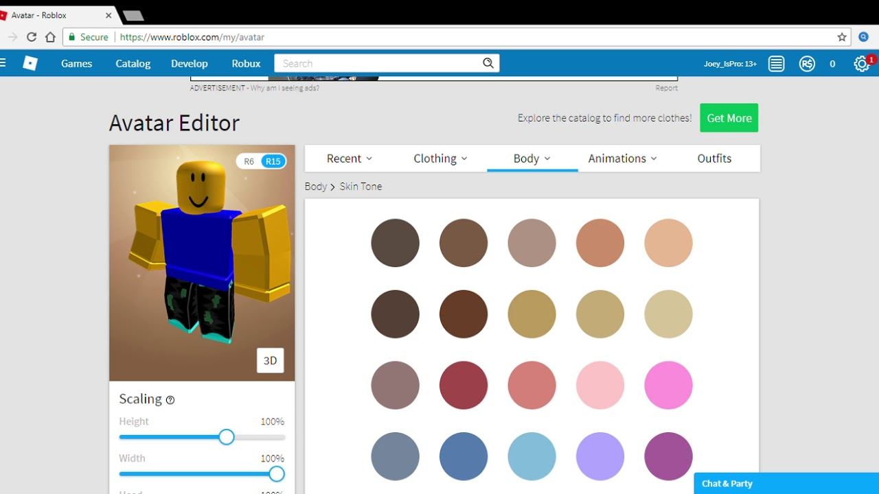 roblox noob skins de roblox How To Get The Roblox Noob Skin For Free Youtube