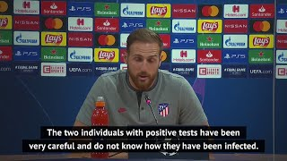 Oblak admits to stress after positive corona cases at Atletico Madrid