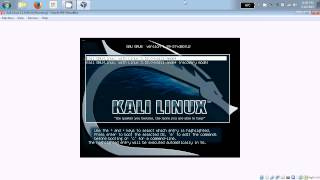 Kali Linux 1.1.0 64-bit, Virtualbox Install In Windows 7