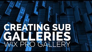Creating Sub Galleries Within Wix Pro Gallery