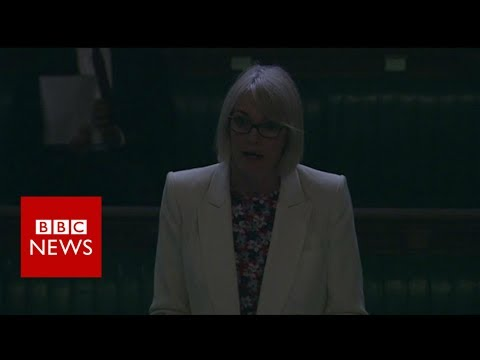 The moment the lights went out on MPs - BBC News