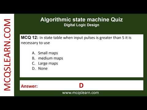 Algorithmic state machine Quiz - MCQsLearn Free Videos