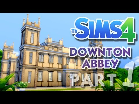 The Sims 4 House Building: Downton Abbey / Highclere Castle - Part 1 - (Real Time)