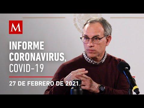 Informe diario por coronavirus en México, 27 de febrero de 2021