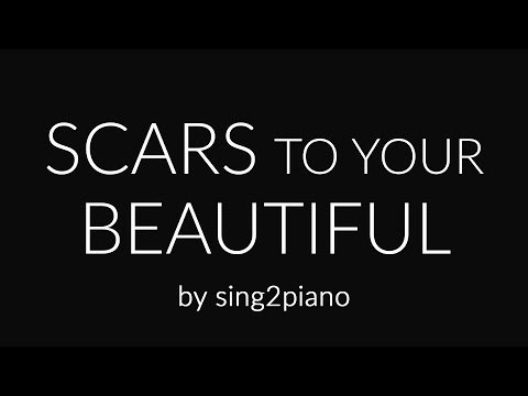 Scars to Your Beautiful (Piano karaoke Instrumental) Alessia Cara