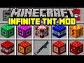 Minecraft INFINITE TNT MOD! | CRAFT TNT LAUNCHERS & 50+ NEW EXPLODING TNT! | Modded Mini-Game