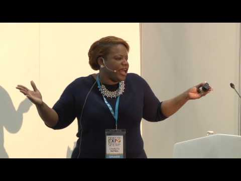 Camilita Nuttall speaking at the Best You Expo