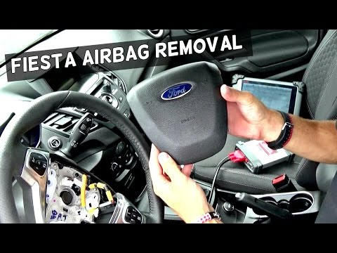 ford fiesta driver airbag removal and replacement steering wheel 2011 2012  2013 2014 2015 2016