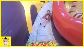 Indoor Playground Learn Colors Kids Family Fun for Play Slide Rainbow Ball Colors | MariAndKids Toys