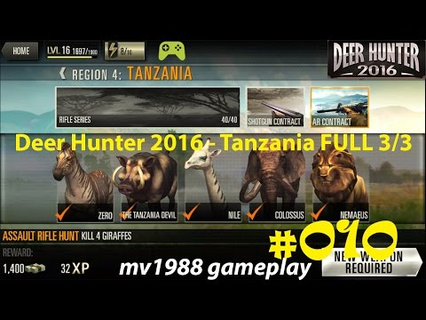 Deer Hunter 2016 - Region 4 Tanzania 3/3 Gameplay Walkthrough HD (part #010)