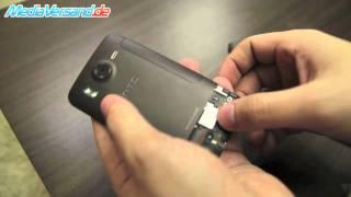 HTC Desire HD SIM-Karte einsetzen Handy Telefon Mobile