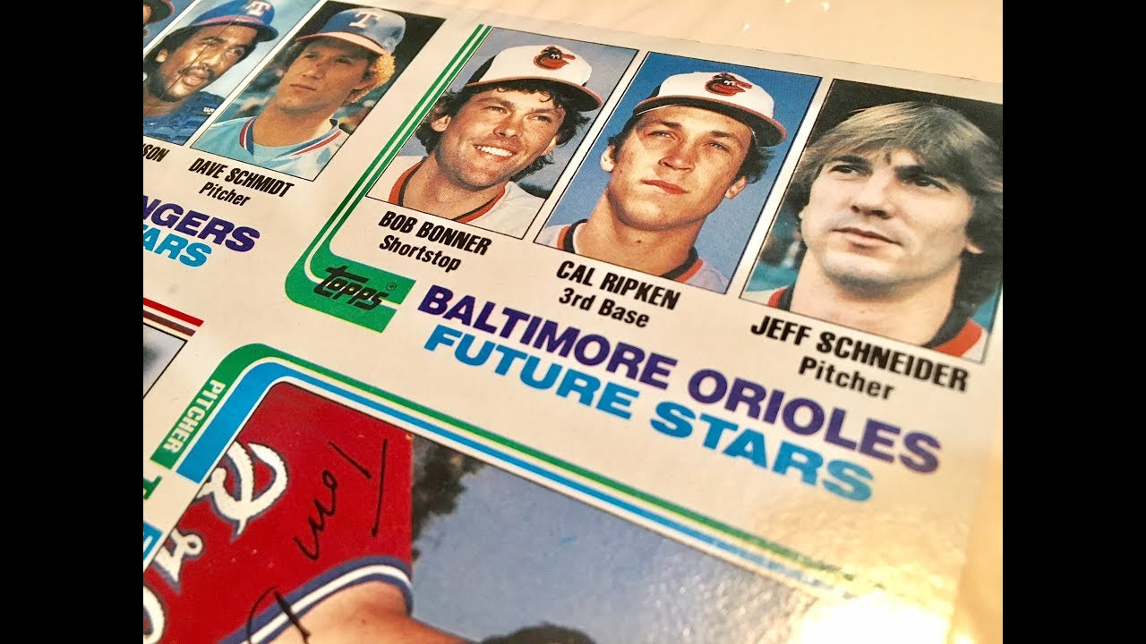 Flea Market Finds Uncut Topps Sheet With 1982 Cal Ripken Jr Rookie Card