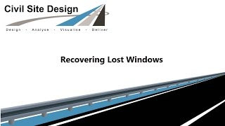 Civil Site Design - General - Recovering Lost Windows