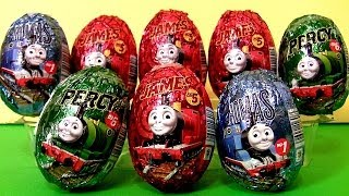 Thomas the Tank Engine Surprise Eggs Holiday Edition Same as Kinder Easter Egg Surprise