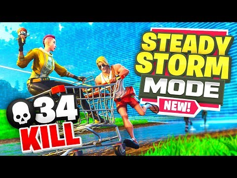 *NEW* 34 KILL STEADY STORM MODE Gameplay In Fortnite Battle Royale