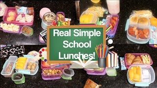 Really Simple & Awesomely Super Week of School Lunches!