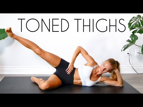 TONED INNER & OUTER THIGH Workout (No Equipment)