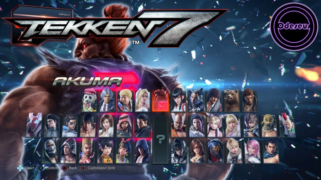 Tekken 7 Full Character List Youtube