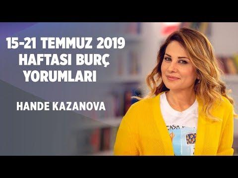 HANDE KAZANOVA'DAN | 15-21 TEMMUZ | HAFTALIK BURÇ YORUMLARI - Astroloji - cevaplatv