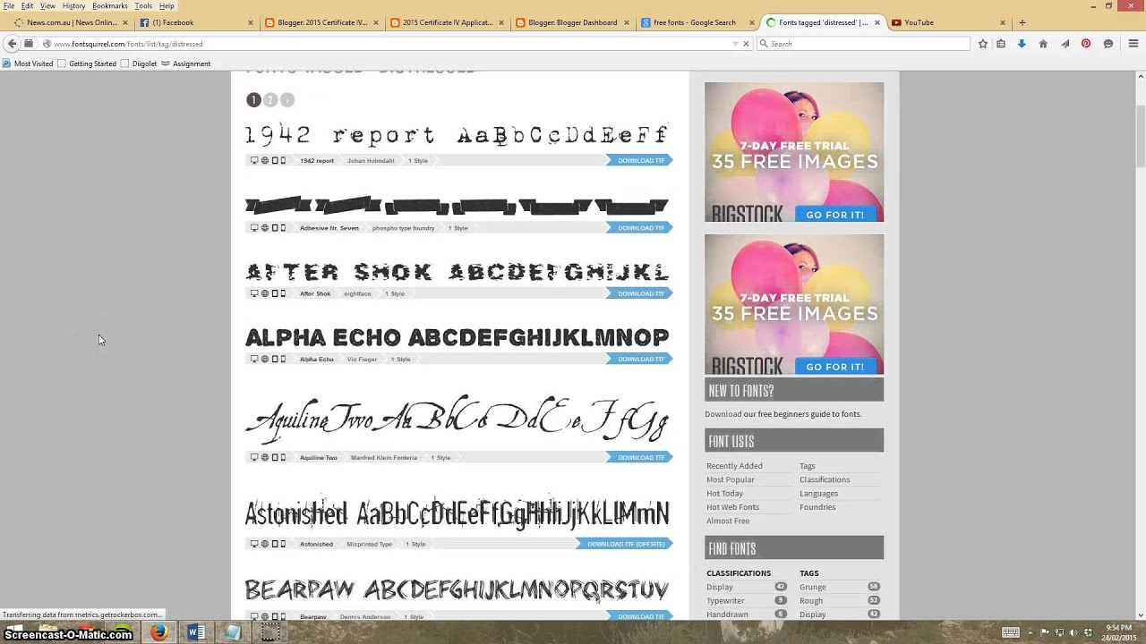 2015 Download And Install Fonts Youtube