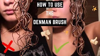 How To Use The Denman Brush