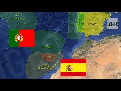 Aguas Territoriales Españolas Mapa.Conflicto Territorial Espana Portugal Islas Salvajes Territorial Dispute Spain Portugal Igeo Tv