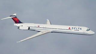 FSX HD MD88 Delta 2173 Atlanta to Miami Full Flight Passenger Wing View