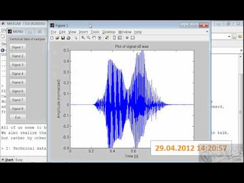 #1 Voice Identification and Recognition System Project in MATLAB avi