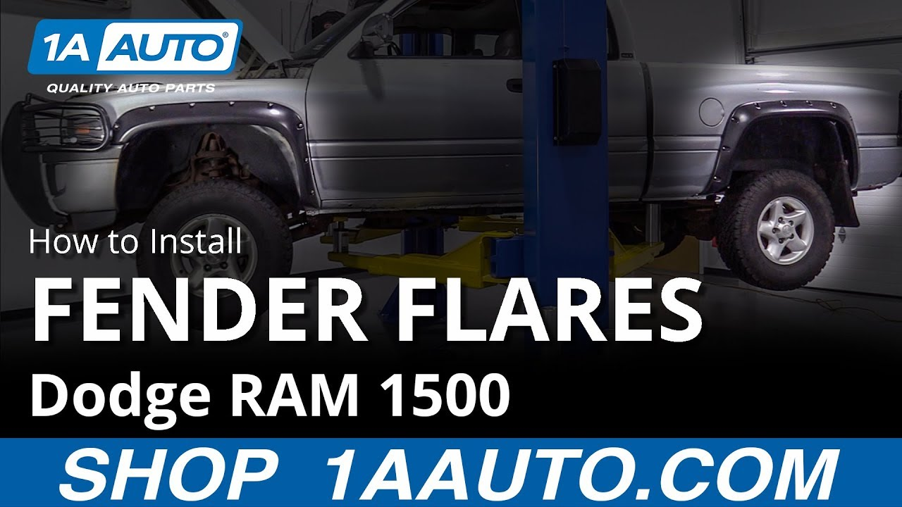 How To Install Fender Flares 94 02 Dodge Ram 1500 Youtube