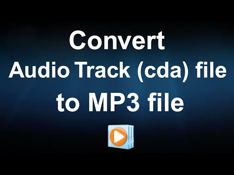 How to convert Audio Track (cda) file to MP3 file without any software