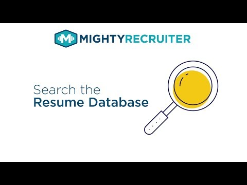 How To Search The Resume Database On MightyRecruiter