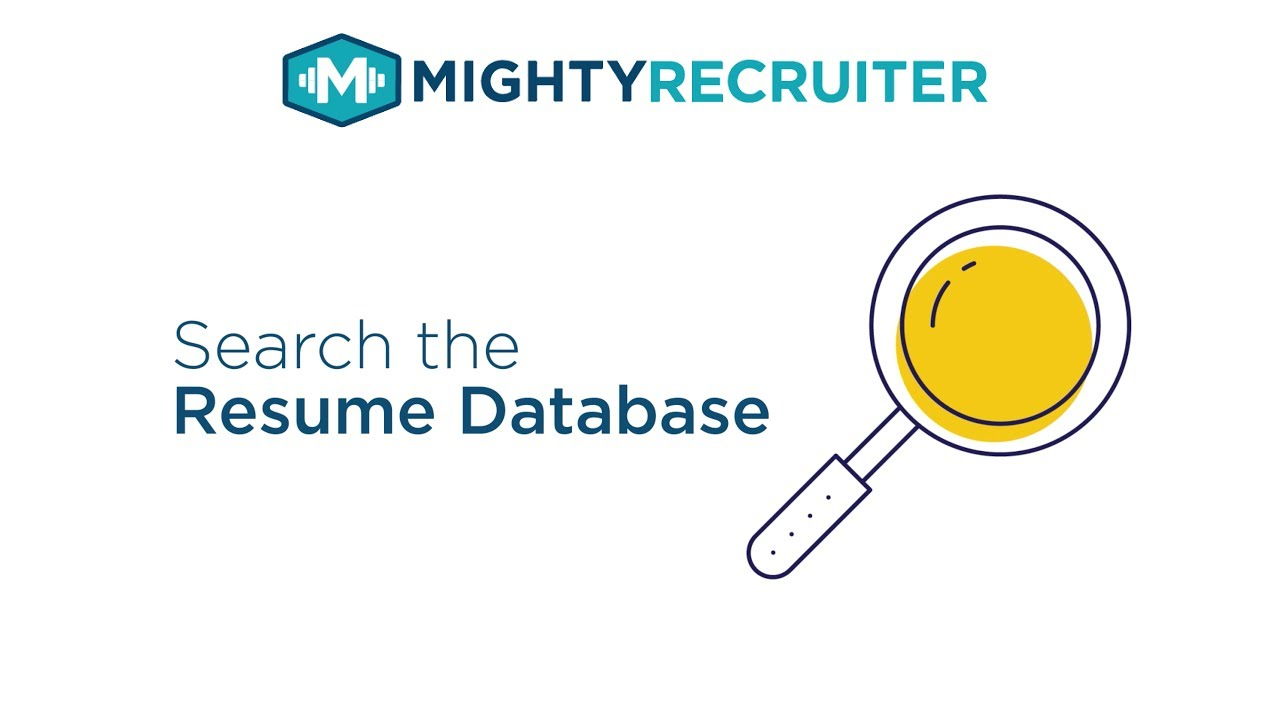 How to search the Resume Database on MightyRecruiter - YouTube