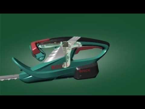 Bosch AHS 52 LI مقص تسوية اسوار الزرع ببطارية ليثيوم ايون - YouTube