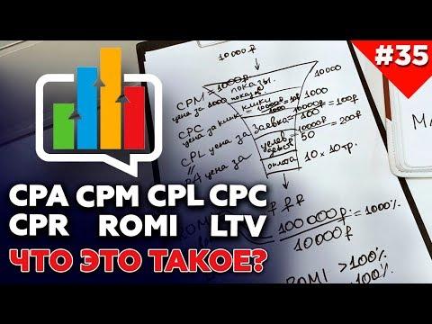Что значат термины маркетинга: CPM, CPC, CPL, CPA, CTR, ROMI, LTV
