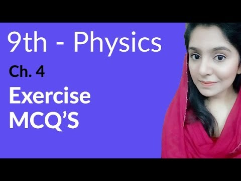 Matric part 1 Physics, ch 4, Exercise MCQs ch 4 -Turning Effect of Forces -  9th Class Physics