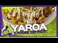 Yaroa Dominicana de carne de res molida con queso y papas fritas