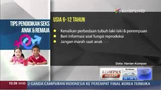 Tips Pendidikan Seks Anak & Remaja -  Kompas Siang 8 November 2013