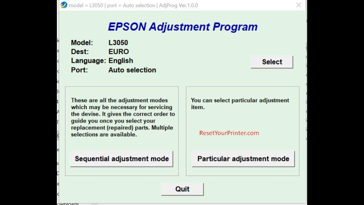 Epson L3050 Adjustment Program,Epson L30750 Adjustment Program,