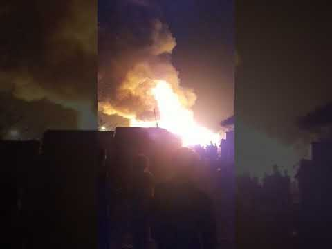 Fire in Rohingiya Kalindi Kunj Camp